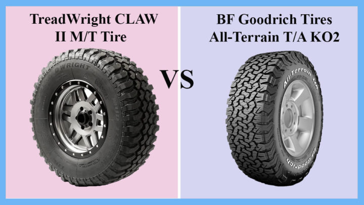 TreadWright CLAW II M/T Tire vs BF Goodrich Tires All-Terrain T/A KO2