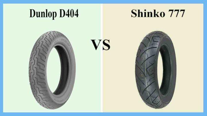 Dunlop D404 vs Shinko 777