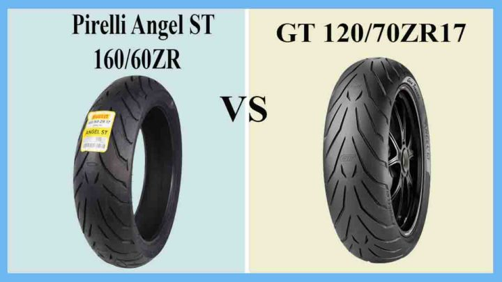 Pirelli Angel ST 160/60ZR vs GT 120/70ZR17
