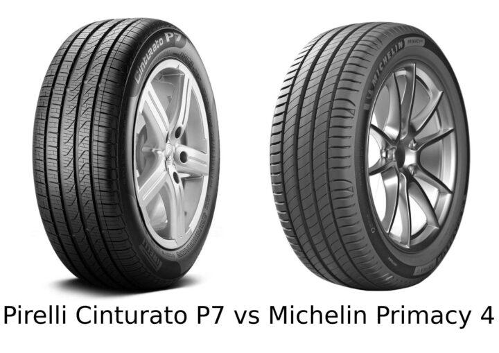 Pirelli Cinturato P7 vs Michelin Primacy 4