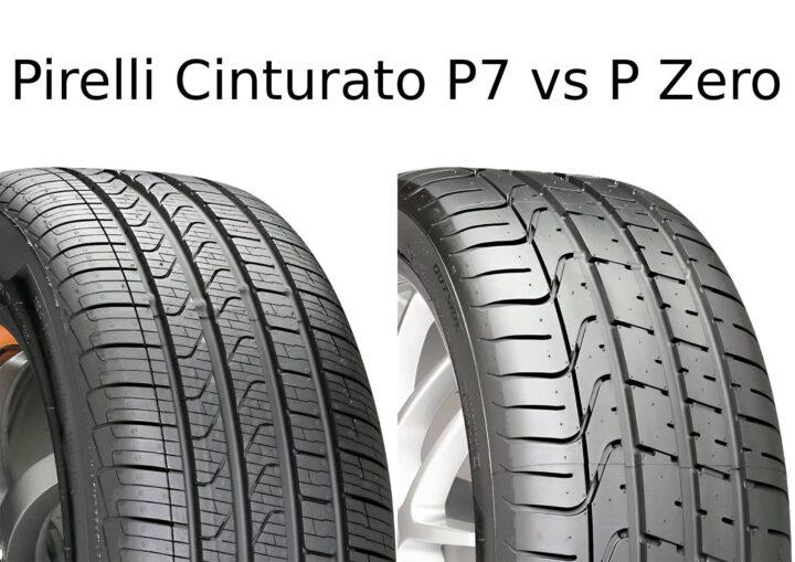 Pirelli Cinturato P7 vs P Zero