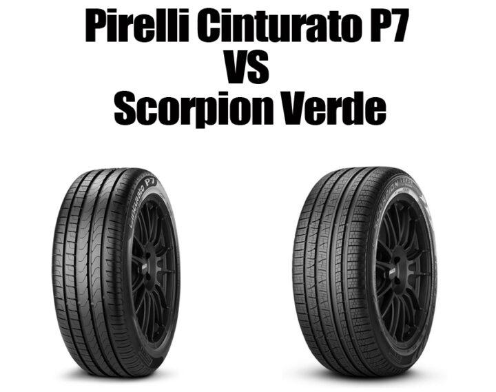 Pirelli Cinturato P7 vs Scorpion Verde
